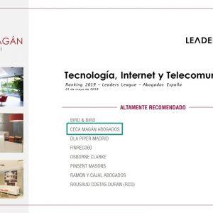 Ceca Magán entre los mejores despachos en Tecnología, según Leaders League