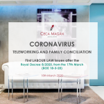 CORONAVIRUS - TELEWORKING AND FAMILY CONCILIATION