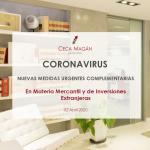 Coronavirus: Medidas en materia mercantil e inversiones extranjeras