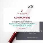 Coronavirus - Contratación Pública durante el Estado de Alarma