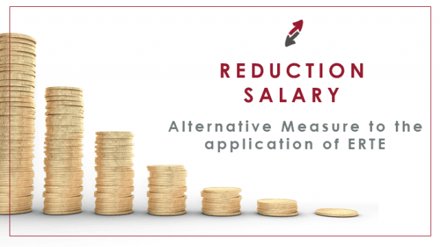 Salary reduction as an alternative measure to the application of ERTE