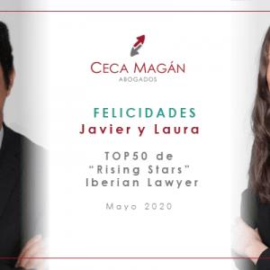 Javier Reyes y Laura Vicente, destacados por Iberian Lawyer como ejemplos de talento joven en el sector legal