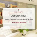 Coronavirus - Principales medidas en materia mercantil