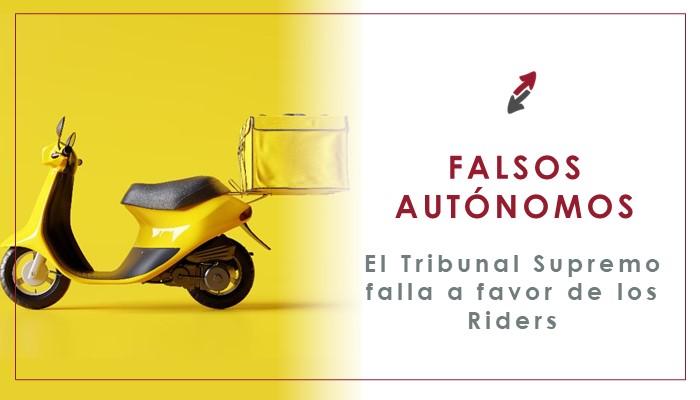 El Tribunal Supremo considera que los riders son falsos autónomos