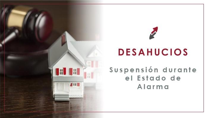Suspensión de los desahucios durante el estado de alarma