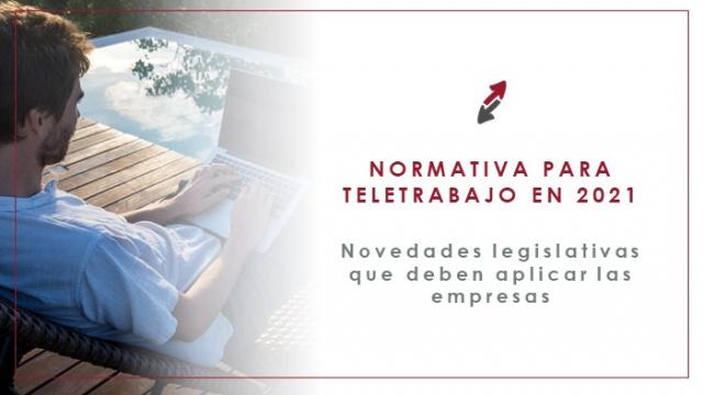 La nueva normativa en materia de Teletrabajo en el año 2021