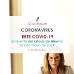 portada guía sobre coronavirus erte covid-19 ante fin estado de alarma