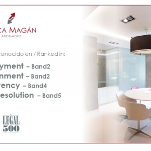 Despacho Legal 500: Ceca Magán reconocido en área laboral, concursal, público y procesal