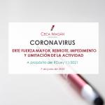 Portada de la guía actualizada sobre ERTE Fuerza mayor en crisis coronavirus