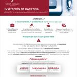 Imagen infografía sobre inspecciones de hacienda y cómo puede ayudarte un abogado