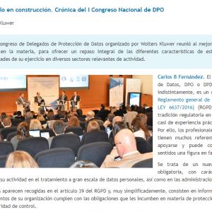 El DPO, un modelo en construcción. Crónica del I Congreso Nacional de DPO