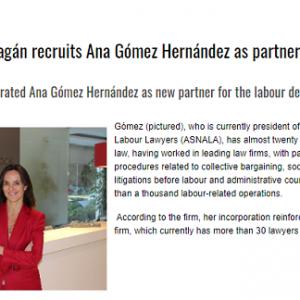 Ceca Magán incorpora a Ana Gómez como nueva socia del área laboral
