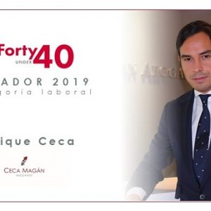 Enrique Ceca, Premio Iberian Lawyer 40 under Forty 2019