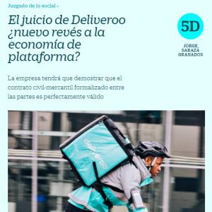 El juicio de Deliveroo ¿nuevo revés a la economía de plataforma?