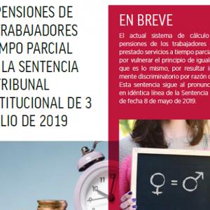 Las pensiones de los trabajadores a tiempo parcial tras la sentencia del Tribunal Constitucional