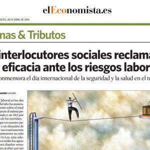 Los interlocutores sociales reclaman más eficacia ante los riesgos laborales