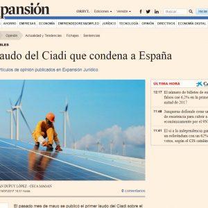 El laudo del Ciadi que condena a España