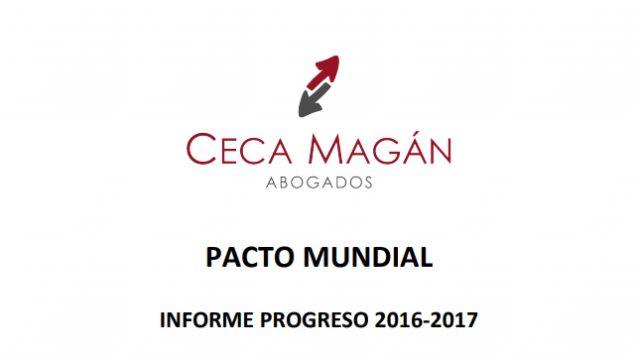 INFORME DE PROGRESO 2016-2017. PACTO MUNDIAL DE LAS NACIONES UNIDAS