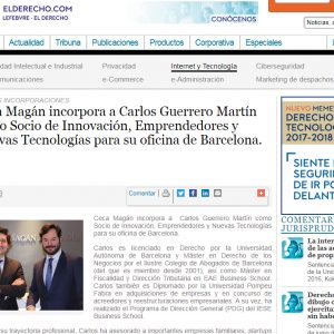 Ceca Magán incorpora a Carlos Guerrero como Socio para su oficina de Barcelona