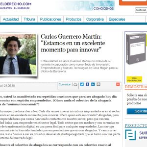 """Carlos Guerrero Martín: """"Estamos en un excelente momento para innovar"""""""