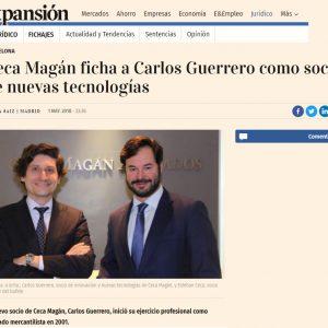 Ceca Magán ficha a Carlos Guerrero como Socio de Nuevas Tecnologías