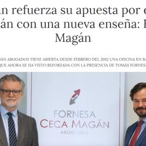 Ceca Magán refuerza su apuesta por el mercado jurídico catalán con una nueva enseña: Fornesa Ceca Magán
