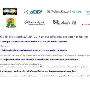 Ceca Magán en la Gala premios AMMI, Asociación Madrileña de Mediadores