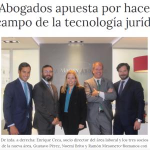 Ceca Magán apuesta por hacerse fuerte en el campo de la tecnología jurídica