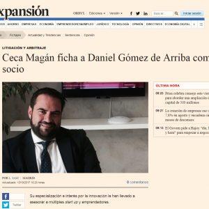 Ceca Magán ficha a Daniel Gómez de Arriba como Socio
