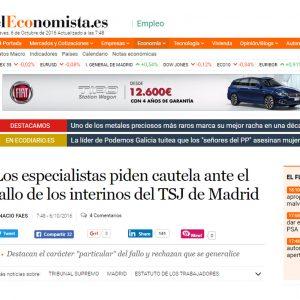 Los especialistas piden cautela ante el fallo de los interinos del TSJ de Madrid