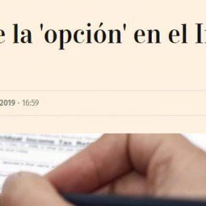 """El ejercicio de la """"opción"""" en el Impuesto de Sociedades"""