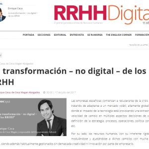 La transformación – no digital – de los RRHH