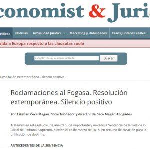 Reclamaciones al FOGASA, resolución extemporanea y silencio positivo