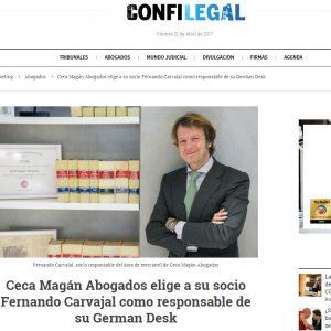 Fernando Carvajal será responsable del German Desk