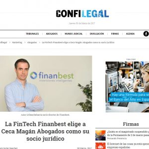 Ceca Magán, nuevo socio jurídico de Finanbest