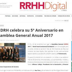Ceca Magán, patrocinador de la 5ª asamblea general anual de AEDRH