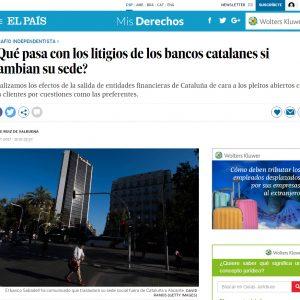 ¿Qué pasa con los litigios de los bancos catalanes si cambian su sede?