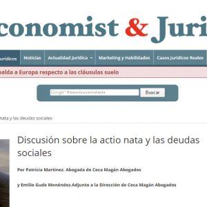 Discusión sobre la actio nata y las deudas sociales