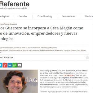 Carlos Guerrero se incorpora como Socio a Ceca Magán