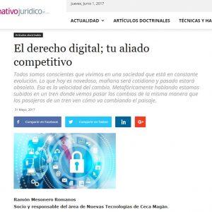 El derecho digital; tu aliado competitivo