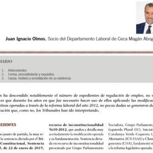 Los expedientes de regulación de empleo según la última jurisprudencia