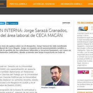 Jorge Sarazá Granados, nuevo socio del área laboral del despacho.