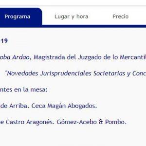 Daniel Gómez de Arriba participa en el Encuentro Jurídico en materia societaria y concursal