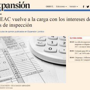 El TEAC vuelve a la carga con los intereses de las actas de inspección