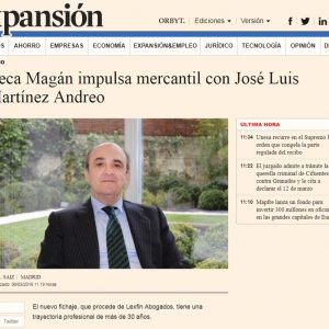 Ceca Magán impulsa mercantil con José Luis Martínez Andreo