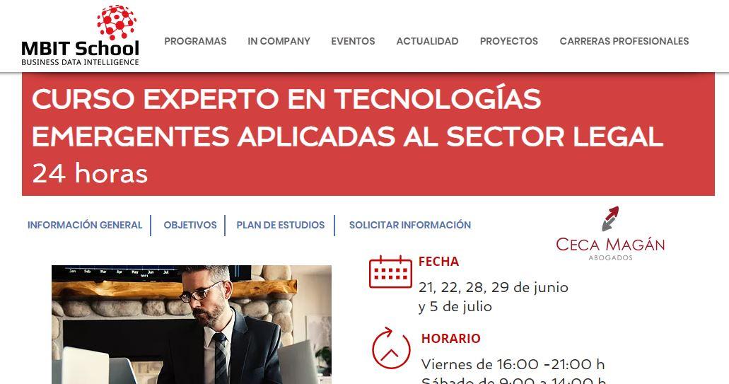 """Ceca Magán Abogados lanza, junto a MBIT School, un pionero programa formativo sobre """"Tecnologías Emergentes aplicadas al Sector Legal""""."""