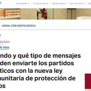 Cuándo y qué tipo de mensajes pueden enviarte los partidos políticos con la nueva ley comunitaria de protección de datos