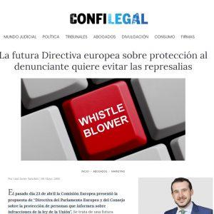 La futura Directiva europea sobre protección al denunciante quiere evitar las represalias