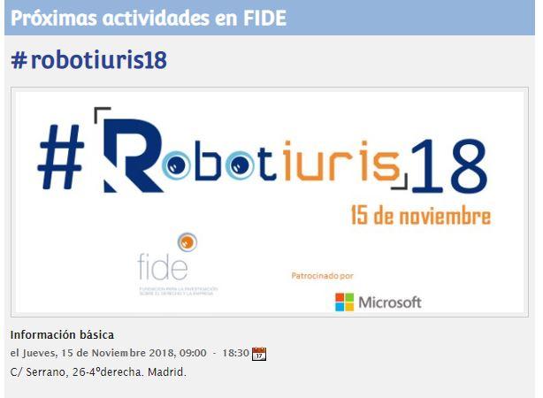 Noemí Brito interviene en el III Congreso sobre Robótica, #Robotiuris18