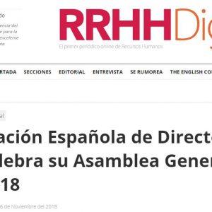 La Asociación Española de Directores de Recursos Humanos celebra su Asamblea General Anual